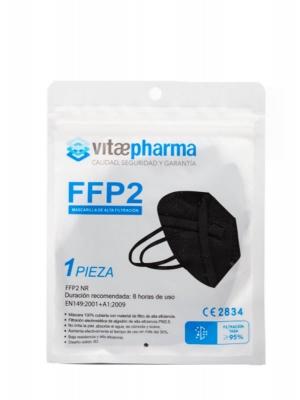 Vitaepharma mascarilla ffp2 negra 1 unidad