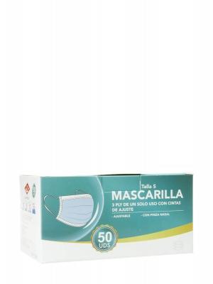 Mascarilla quirúrgica talla s 50 unidades