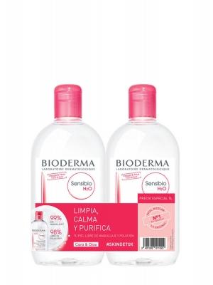 Bioderma sensibio h2o agua micelar pack duplo 500 ml