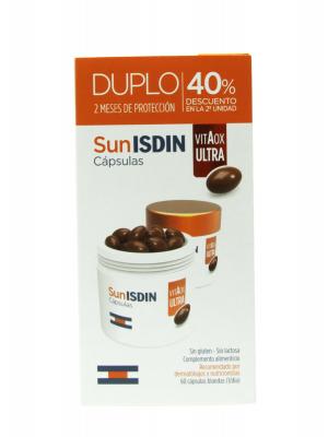 Isdin® cápsulas sunisdin vitaox ultra. segunda unidad al 40% de descuento.