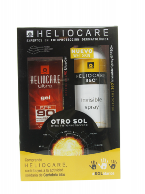 Heliocare pack gel spf 90 de 50ml + spray invisible 360º spf50 200ml