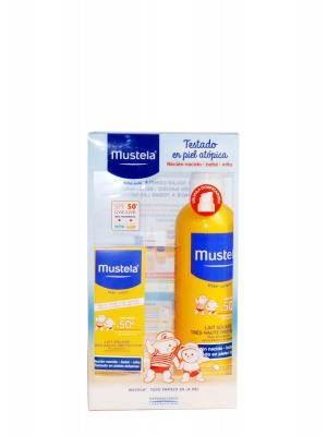 Mustela pack protección solar corporal + facial spf 50+