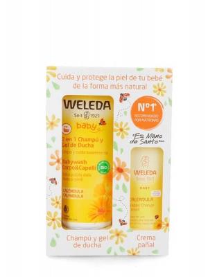 Weleda pack champu+crema pañal calendula