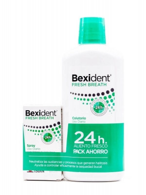 Bexident fresh pack colutorio 500 ml+ spray 15 ml