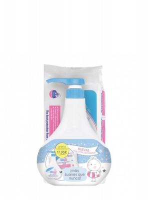 Sebamed baby pack lanzamiento gel baño espuma 1l + toallitas