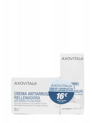 Axovital pack crema de día antiarrugas y contorno ojos