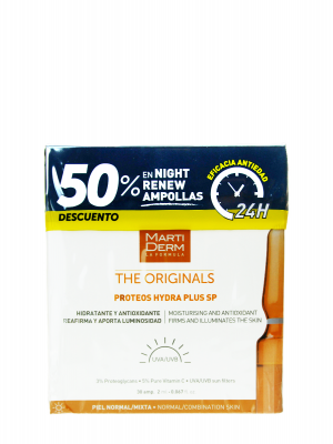 Pack martiderm® hydra plus sp spf 30 ampollas + night renew 10 ampollas