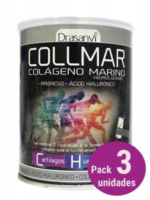 Pack 3 collmar colágeno marino sabor neutro