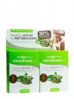 Arkocafe verde + zinc , duplo 30+30 cápsulas
