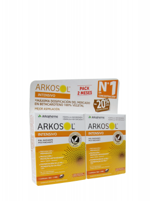 Arkosol intensivo duplo 2x30 cápsulas arkopharma