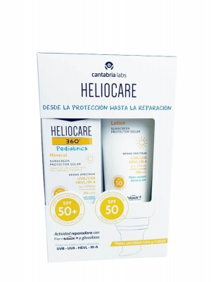 Heliocare 360º pediatrics pack lotion 200ml +mineral 50 ml