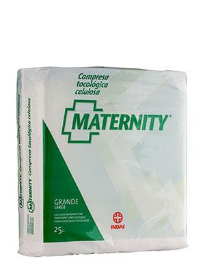Compresas maternity celulosa 25 unidades