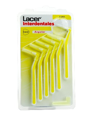 Lacer cepillo interdental fino angular 6 uniddades