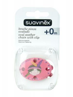 Suavinex broche pinza ovalado +0m