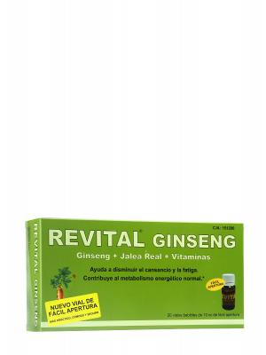 Revital  ginseng +vitamina c + jalea real 20 ampollas