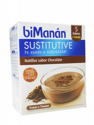 Bimanán sustitutive natillas chocolate 6 sobres
