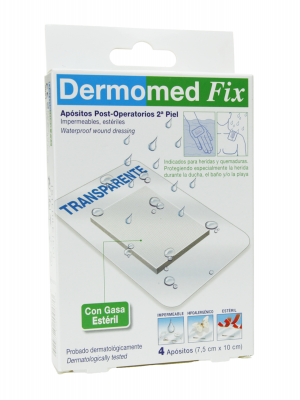 Dermomed fix apósito esteril impermeable 4 apósitos