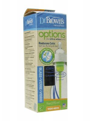 Dr browns biberón vidrio anticólico silicona 270 ml