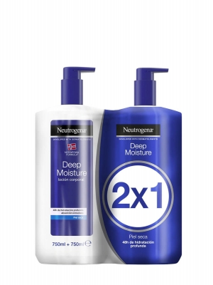 Neutrogena loción corporal hidratación profunda piel seca 2x750 ml