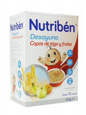 Nutriben desayuno copos trigo y fruta 750gr