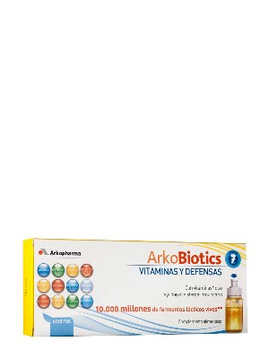 Vitaminas y defensas para adultos de arkobiotics, 7 dosis