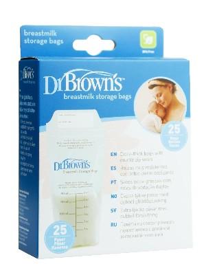 Bolsa para guardar leche materna 25 u dr.brown