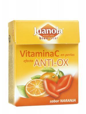 Juanola perlas de naranja con vitamina c 25 gr