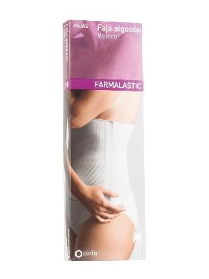 Farmalastic faja algodón velcro blanca talla 3