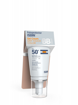 Isdin bb cream gel cream dry touch con color spf 50+ 50ml
