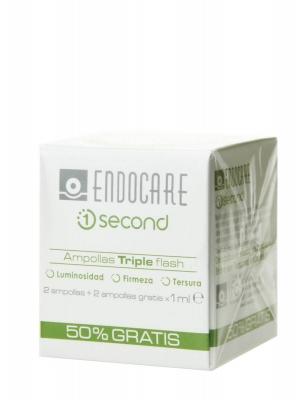 Endocare 1 second ampollas triple flash 4 ampollas