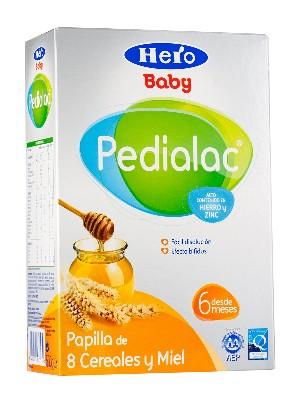 Hero baby ® pedialac papilla 8 cereales y miel 500 gramos