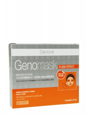 Genomask flash effect mascarilla facial con vitamina c 6 unidades