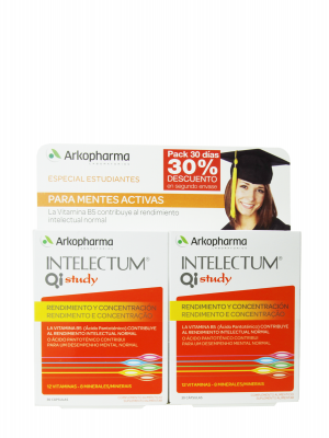 Arkopharma duplo intelectum qi study 2x30 cápsulas