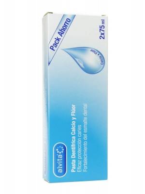 Alvita pasta dental calcio y fluor duplo 75 ml