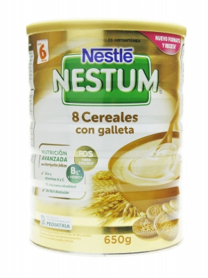 Nestle nestum papilla 8 cereales con galleta 650 gr