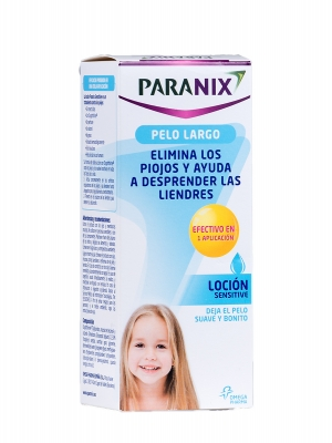Paranix sensitive 150ml antiparasitario. especial pelo largo