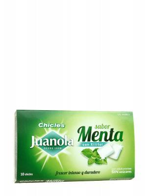 Chicles sabor menta  10 unidades  juanola