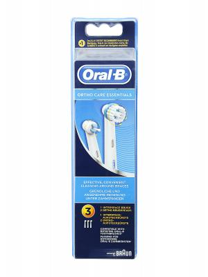 Recambio de cepillo eléctrico oral b ortho care essentials 3 unidades