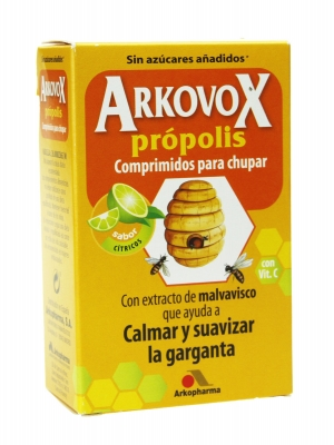 Arkopharma arkovox propolis + vitamina c 24 comprimidos