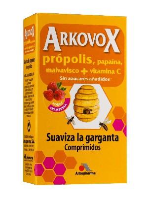 Comprimidos masticables sabor frambuesa de própolis+ vitamina c+ malvavisco+ papaína, 48gr