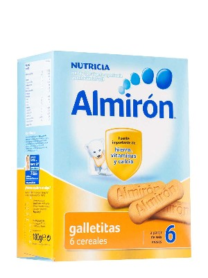 Galletitas almirón 6 cerealees 180 gramos, desde los 6 meses