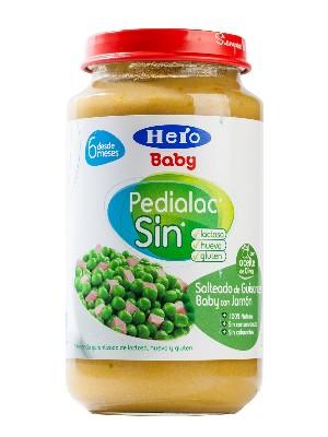 Pedialac sin-salteado de guisantes baby con jamón