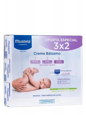 Mustela oferta especial 3x2 en crema bálsamo para el culete del bebé.