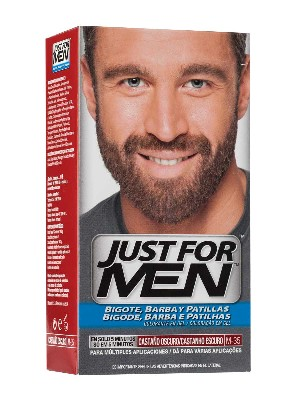 Just for men bigote y barba gel castaño oscuro
