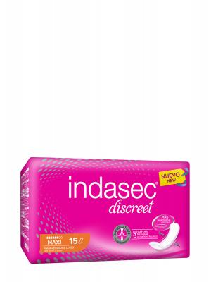 Indasec discreet maxi 15 compresas