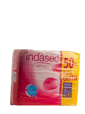 Compresa incontinencia indasec extra, promoción 20+10