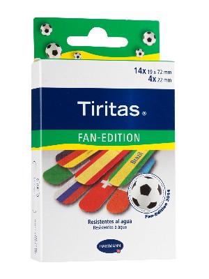 Tiritas brazil fan edition 18 unidades surtido