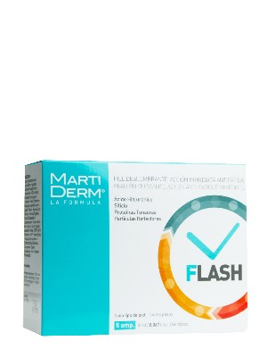Martiderm® flash 5 ampollas 2 ml · piel deslumbrante
