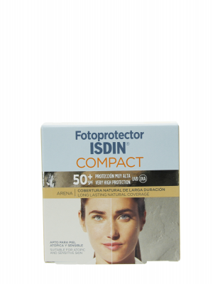 Isdin maquillaje fotoprotector spf 50 arena compact oil free