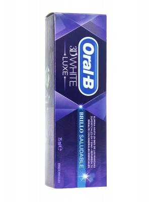Pasta de dientes 3d white brillo saludable de oral b 75ml